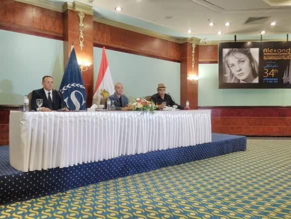 بالصور.... المؤتمر الصحفى للدورة ال٣٤ لمهرجان الإسكندرية